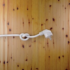 Stecker mit Knoten 2 auf Holz