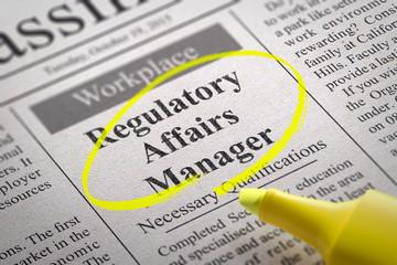 Regulatory Affairs Manager Jobs in Newspaper.