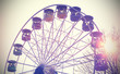 Retro vintage filtered picture of a carousel.