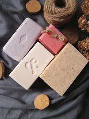 Bar of natural handmade soap