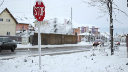 Winter Traffic Sign
