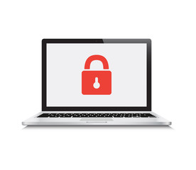 Security Locked Laptop