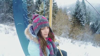 Girl on lift
