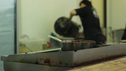 Working In Kitchen
