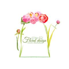 Floral abstruct Pot for Restaurant Menu design