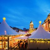 Christmas market in Berlin, text space