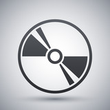 Vector CD or DVD icon