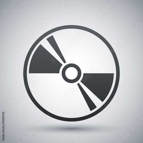 Vector CD or DVD icon - 79690752