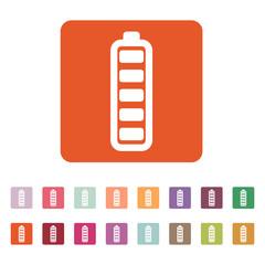 The battery icon. Accumulator symbol. Flat