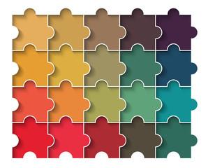 retro puzzle block