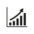 The growing graph icon. Progress symbol. Flat - 79692315
