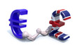 euro and sterling symbol currency make arm wrestling
