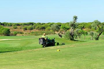 Mantenimiento del campo de golf, cortacésped