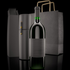 wine and packing bags