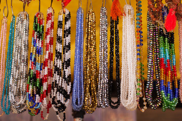 Colorful traditional indian jewelry