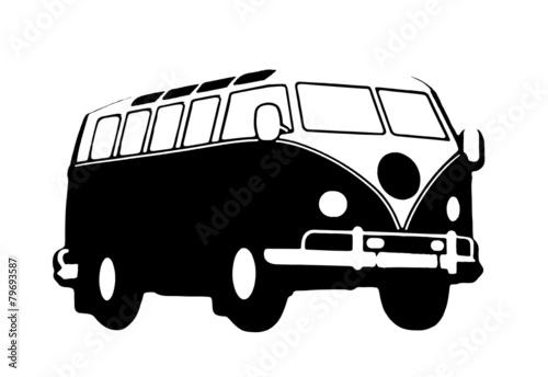 vw bus hippie - 79693587