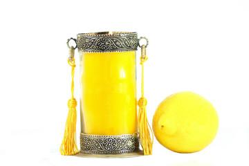 bougie parfumée au citron