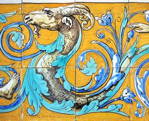 Animal mitológico, quimera, azulejo