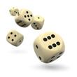 Würfel, Spielwürfel, fliegend, Wurf, Zocker, Casino, 3D, Dices - 79693917