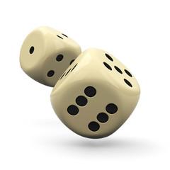 Würfel, Spielwürfel, Wurf, fliegend, Glücksspiel, Casino, Dice
