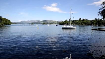 Bowness Windermere Lake District uk sailing boat
