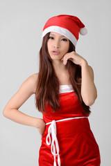 Asian Christmas girl
