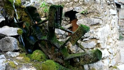 doğada eski su değirmeni