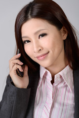 Attractive young business lady