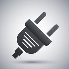 Vector electric plug icon