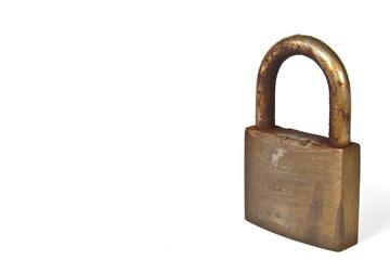 Used rusty padlock