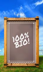Strassenschild 34 - 100% Bio