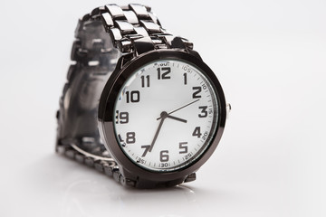 elegant watch with a metal bracelet