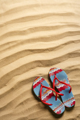 spiaggia  con infradito