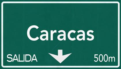 Caracas Venezuela Highway Road Sign
