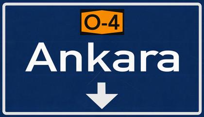 Ankara Turkey Highway Road Sign