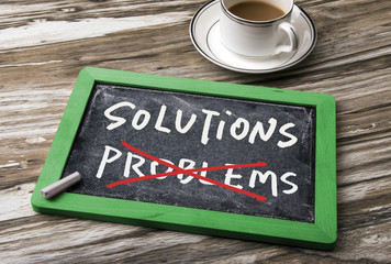 solutions and problems concept