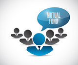 mutual fund team message illustration poster