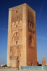Morocco. Hassan tower in Rabat