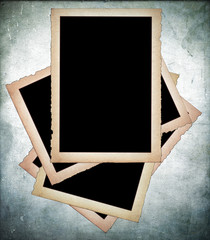 Old paper frames with frayed edges
