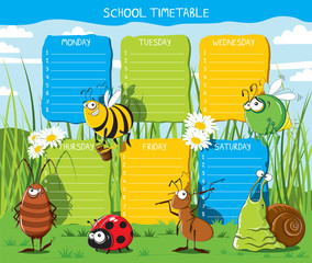Timetable Insects