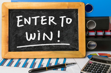 enter to win handwritten