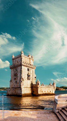 Belem Tower in Lisbon - 79701523