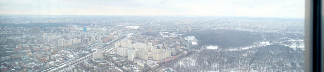 Panoramic photo view from Ostankino television tower