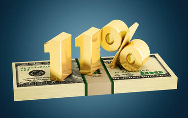 11% - savings - discount - interest rate