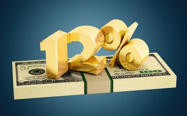 12% - savings - discount - interest rate