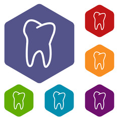 Tooth rhombus icons