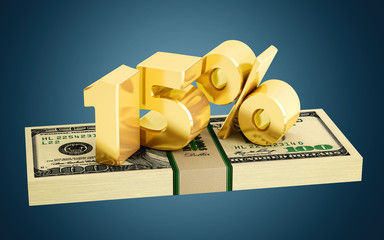 15% - savings - discount - interest rate