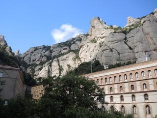 The monastery on the mountain of Montserrat
