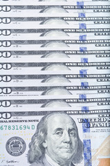 100 USD close-up
