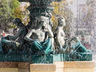 Springbrunnen auf dem Rossioplatz in Lissabon